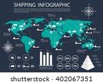 international logistics ... | Shutterstock .eps vector #402067351