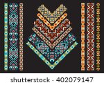 patchwork fabric for creativity ... | Shutterstock .eps vector #402079147