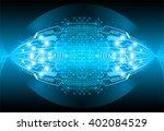 blue abstract hi speed internet ...   Shutterstock .eps vector #402084529
