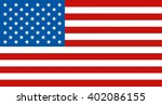 flag of united states of... | Shutterstock .eps vector #402086155