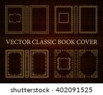 vector set classical book cover.... | Shutterstock .eps vector #402091525