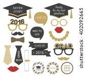 set for graduation party. class ... | Shutterstock .eps vector #402092665