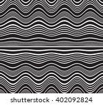 optical art opart striped wavy... | Shutterstock . vector #402092824