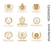 Crests Luxury logo set, Brand identity with boutique style and royal concept