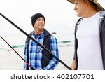 picture of fisherman  | Shutterstock . vector #402107701