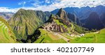 Panorama Of The Machu Picchu O...