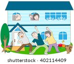 the pleasant life in old man... | Shutterstock .eps vector #402114409