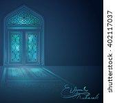 eid mubarak islamic banner... | Shutterstock .eps vector #402117037