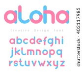 Font Vector With Blue And Pink...
