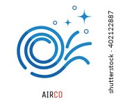 air conditioning logo concept.... | Shutterstock .eps vector #402122887