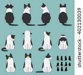 set of cat sitting poses | Shutterstock .eps vector #402130039