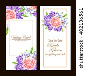 invitation with floral... | Shutterstock . vector #402136561