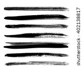 vector set of black brush... | Shutterstock .eps vector #402138817