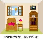 vector illustration of living... | Shutterstock .eps vector #402146281
