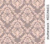 vector baroque floral damask... | Shutterstock .eps vector #402146611