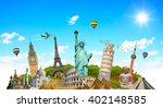 famous monuments of the world... | Shutterstock . vector #402148585