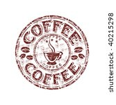 grunge rubber stamp with coffee ... | Shutterstock .eps vector #40215298
