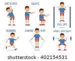 set of sportsman characters... | Shutterstock .eps vector #402154531