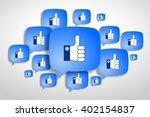 social networking concept ... | Shutterstock . vector #402154837