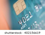 close up of a green credit card | Shutterstock . vector #402156619