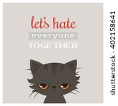 angry cat cartoon. cute grumpy... | Shutterstock .eps vector #402158641