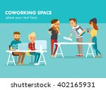 creative people working in co... | Shutterstock .eps vector #402165931