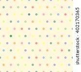 pastel polka dot pattern   cute ... | Shutterstock .eps vector #402170365