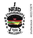 burger mascot character design. ... | Shutterstock .eps vector #402172879