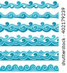 blue waves sea ocean vector...   Shutterstock .eps vector #402179239