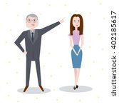 set characters office team for... | Shutterstock .eps vector #402185617