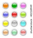 glassy buttons | Shutterstock . vector #40218949