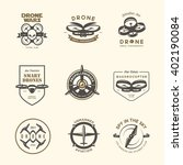 vector set of drone flying club ... | Shutterstock .eps vector #402190084