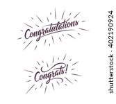 congratulations. hand lettering ...   Shutterstock .eps vector #402190924