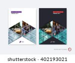 set of abstract cover design ... | Shutterstock .eps vector #402193021