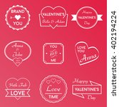 love vector badges logos | Shutterstock .eps vector #402194224