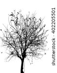 withered tree  leaf and... | Shutterstock . vector #402205501