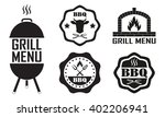 barbecue and grill labels set.... | Shutterstock .eps vector #402206941