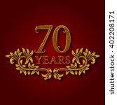 seventy years anniversary... | Shutterstock .eps vector #402208171