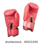 Red Gloves For Boxing Or Kick...