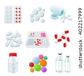 medicaments of various types ... | Shutterstock .eps vector #402217999