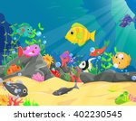illustration of underwater... | Shutterstock . vector #402230545