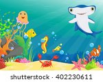 illustration of  coral reef... | Shutterstock .eps vector #402230611