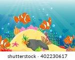 illustration of clown fish... | Shutterstock . vector #402230617