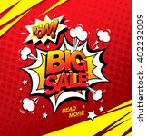 wow  big sale banner template... | Shutterstock .eps vector #402232009
