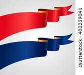the set of red and blue ribbons ... | Shutterstock .eps vector #402239041