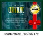 emerald certificate design with ... | Shutterstock .eps vector #402239179