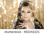 portrait of a beautiful female... | Shutterstock . vector #402242221