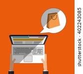 laptop icon design  vector... | Shutterstock .eps vector #402243085