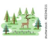 red deer in forest. wildlife...