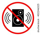 no loud music sign  circular. | Shutterstock .eps vector #402246325